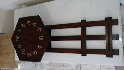wall clock wooden vintage