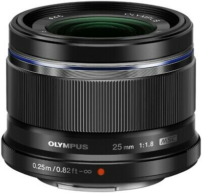 Olympus M.Zuiko Digital 25mm F1.8 Lens - Black
