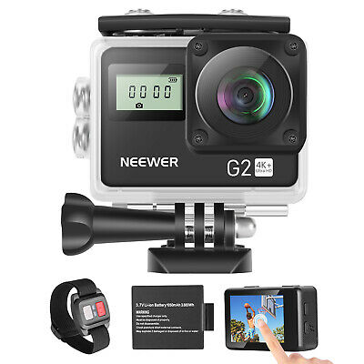 Neewer G2 Touch Screen Ultra HD 4K 12MP Action Camera with Mounting Accessories