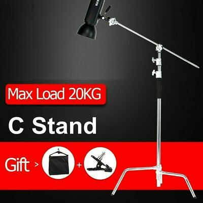 11ft C Stand on Turtle Base Kit with Grip Arm & Gobo Heads & Sandbag&Strong Clip