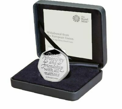 Brexit Withdrawal from the European Union 2020 UK 50p Silver Proof Coin