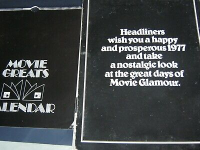 1977 HEADLINERS Movie Glamour Calendar + 1983 Movie Greats Calendar