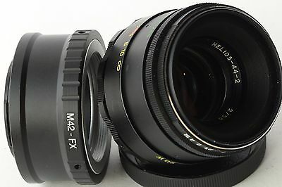 Helios 44-2 2/58 Lens Russian M42 USSR + Adapter for FujiFilm FX