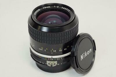 Nikon Nikkor 28mm f/2.0 FAST Ai Manual Focus Wide Angle Lens - MUST READ! (6149)