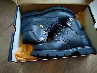 Caterpillar men's size 8 wide black leather boots worn once