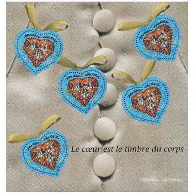 Bloc Feuillet BF33 - Coeurs Christian Lacroix St-Valentin - 2001 - Neuf** Luxe
