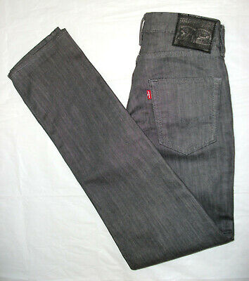 LEVI STRAUSS SLIM Skinny LEVIS 511 JEANS Grey Denim CHINOS Straight W 28 L 32