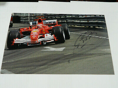 F1 MICHAEL SCHUMACHER  HAND SIGNED IN PERSON picture 8