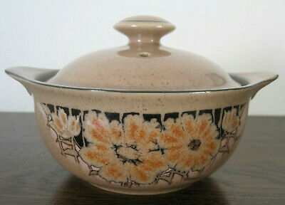 Denby Sumatra Lidded Soup Bowl Individual Casserole Dish Tableware