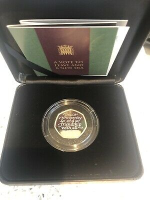 ROYAL MINT 31 JANUARY 2020 LTD. EDITION SOLID SILVER PROOF BREXIT 50p COIN