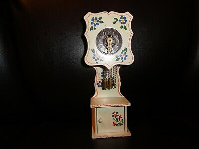 antique miniature grandfather clock; made in west germany