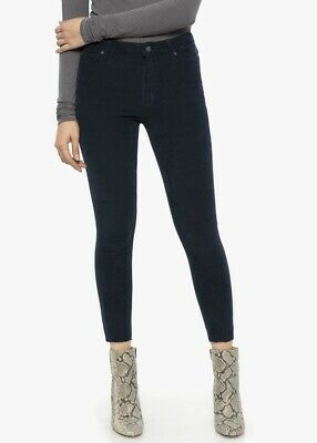 Joes Jeans The Charlie High Rise Skinny Ankle Luxe Cord 26 Sky Captain NWT $188