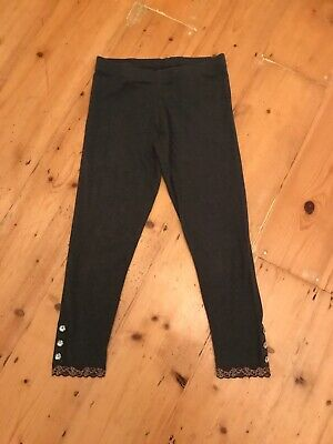 Next Girls Grey 3/4 Length (cropped) Leggings, Age 12 Years