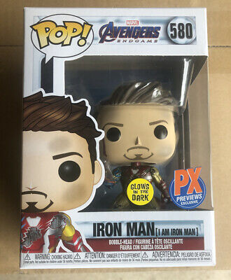 Funko Pop AVENGERS ENDGAME IRON MAN PX Previews Glow in Dark GID In Stock
