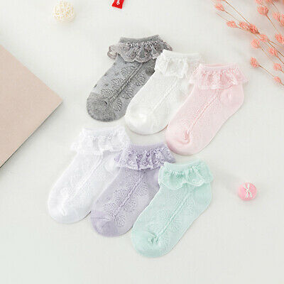 Girls Kids Children Lovely Frilly Lace Ankle Socks School Party Wedding Socks UK