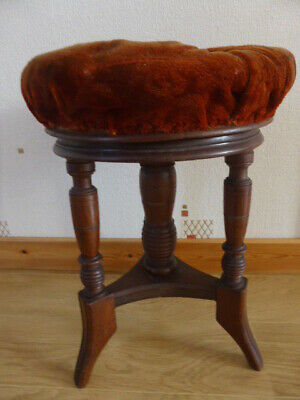 Antique Revolving Adjustable Height Stool,Piano,Victorian,