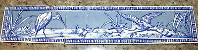 3 Tile Panel With Hand Painted? Arts And Crafts Design Minton Hollins W Crane ?