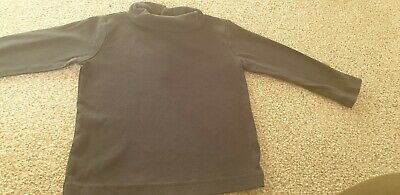 Boys 2-3 Years Black Turtle Roll Neck Unbranded Long Sleeved Top