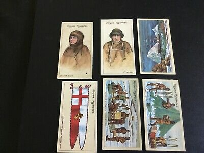 1916 John Player And Sons Tobacco Polar Exploration Card Lot X 6#2