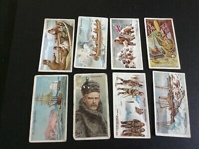 1915  John Player And Sons Tobacco Polar Exploration Card Lot X 8