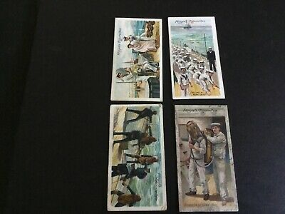 1905   John Player And Sons Life On Board A Man Of War Tobacco  Card Lot X 4