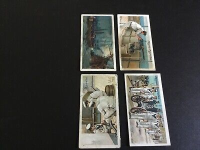 1905   John Player And Sons Life On Board A Man Of War Tobacco  Card Lot X 4 #3