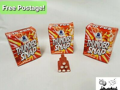 THUNDER SNAPS 90 (X6BOXES) - LOUD banger. Throw for fun, FUN FOR KIDS AND ADULTS