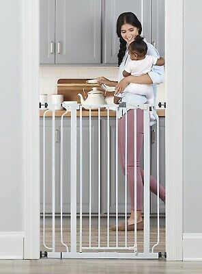 """Regalo easy step extra tall walk thru baby gate W/ 4"""" Extension Kit"""