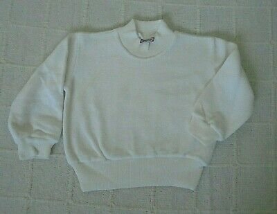 Vintage Stretch Velour Sweater - Age 1 Year - Ivory - Cotton Mix - Defects - New