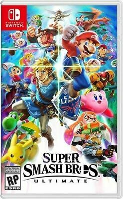 Super Smash Bros. Ultimate Nintendo Switch Video Game New, Factory Sealed
