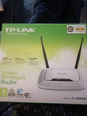 TP-Link TL-WR841N 5-Port 10/100 Wireless-N Router 2.4GHz 300Mbps WPA2 DHCP QoS