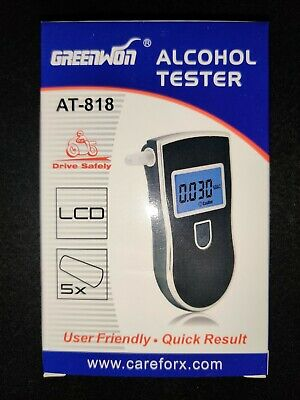 LCD Portable Digital Alcohol Breath Tester Device Breathalyzer Breathalyser New