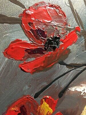 """Breakthrough"" Flowers Poppies Original Painting Wall Art by Keri Orozco"