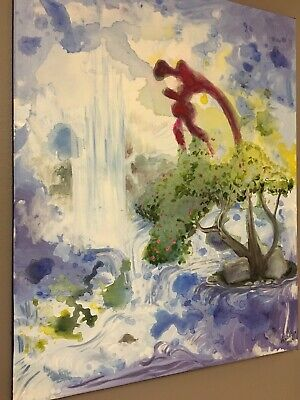 Life Springs Original Abstract Painting Wall Art by Keri Orozco
