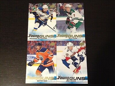 2019-20 Upper Deck Series 1 Young Guns lot of 4 Cards