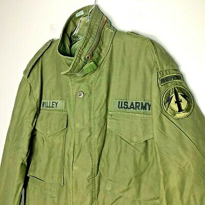 Vietnam Era 1975 Cold Weather Field Coat w Liner M-65 US Army - Pershing Missile