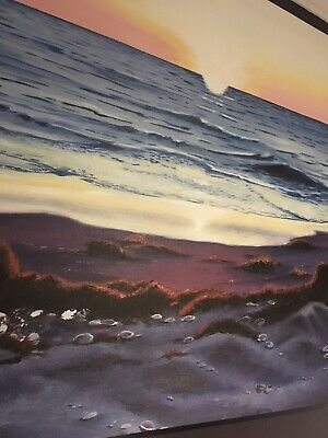 """""""Tranquility"""" Large Original Realism Beach Painting Wall Art by Keri Orozco"""