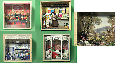 """Doll House Style 1/12 Scale """"Tea Drinkers"""" Theme Dioramas – In Real Tea Crates"""