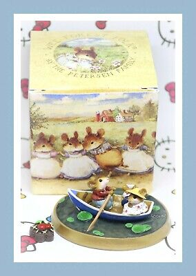 ❤️Wee Forest Folk PM-6 Forget-Me-Knot Not 2002 LIMITED Freedom Family Boat❤️