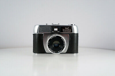 HALINA PAULETTE ELECTRIC 35mm film camera 45mm f2.8 lens with case