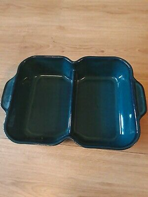 Denby - Greenwich - Green/Teal Round Dual Serving Dish Bowl