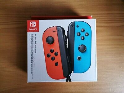 Official Nintendo Switch Joy-Con Pair (Neon Blue / Neon Red) GENUINE BRAND NEW