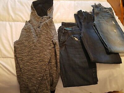 Boys  jeans Bundle  x 3 pairs age 11-12 and m and s hoody