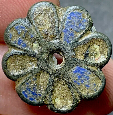 SCARCE - Ancient Roman Enamelled Legionary Cavalry Toggle. 2nd Century CE.