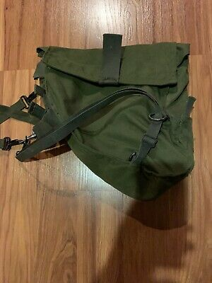 US ARMY GAS Mask Canvas Bag Chemical Biological Field