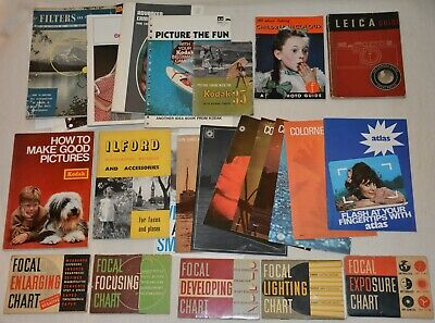 20+  vintage photography books, booklets, guides, Leica, Kodak, Ilford & more