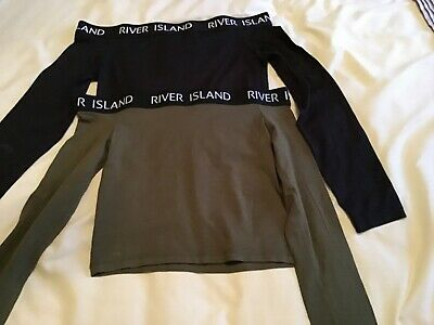Girls Long Sleeved River Island Top Age 9-10 Years