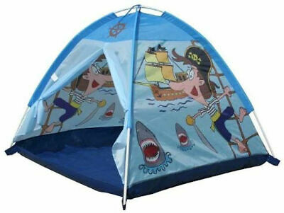 A to Z Indoor Outdoor Play Tent Boys KIds Childrens Fun Blue Pirate Pop Up