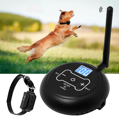 Wireless Dog Fence Kit Electric Boundary Collar Set Pet Containment 100m System