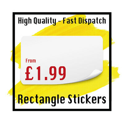 LOGO Printed Rectangle Stickers - Custom Logo labels - postage - Personalised